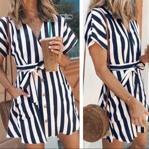 Dresses & Skirts - Striped Starbucks dress summer